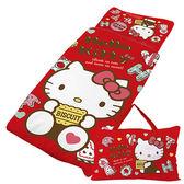 【享夢城堡】HELLO KITTY 繽紛甜心抗菌系列-精梳棉冬夏兩用兒童睡袋(紅)
