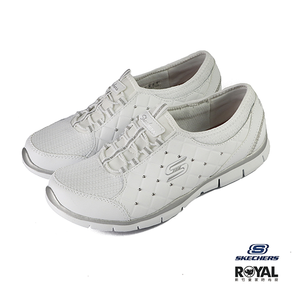 Skechers Gratis 白色 皮質 套入 休閒鞋 女款 NO.J0166【新竹皇家 23359WSL】