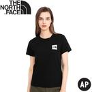 【The North Face 女 BUS短袖T恤AP《黑》】4UBM/休閒短袖/圓領T恤