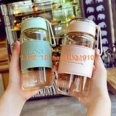玻璃水杯夏天女款可愛高顏值帶蓋便攜小泡茶杯子夏季男【毒家貨源】