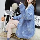 中長款毛衣開衫女小清新寬鬆韓版秋裝洋氣網紅針織衫外套 扣子小鋪