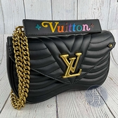 BRAND楓月 LOUIS VUITTON LV 路易威登 M51498  黑NEW WAVE MM 兩用包 斜背包