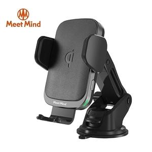 【Meet Mind】i Car線圈感應10W Qi認證無線充電車架黑銀色