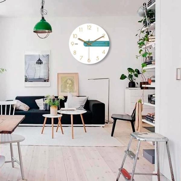 現代簡約清新前衛鐘表客廳掛鐘創意北歐靜音個性臥室大號石英時鐘 台北日光