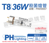 PHILIPS飛利浦 TUV 36W G36 UVC T8紫外線殺菌燈管 歐洲製_ PH040007