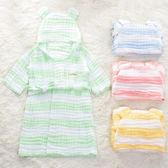 寶寶兒童浴袍棉質紗布帶帽浴巾A類6層吸水沙灘巾全棉家居服披風夏