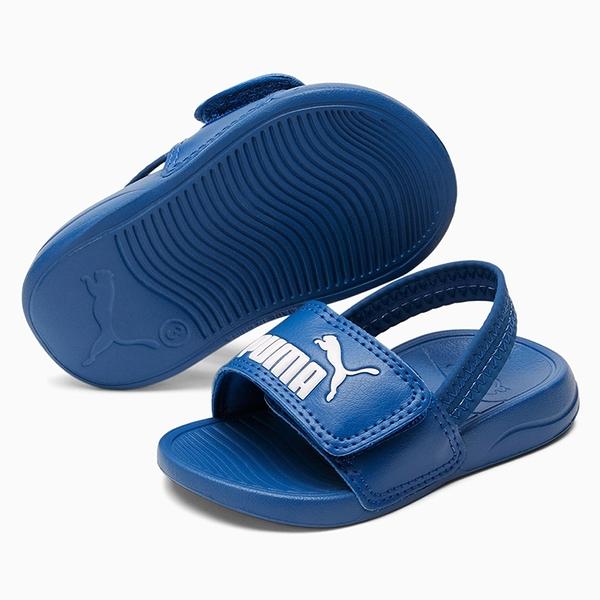 PUMA Popcat 20 Backstrap 童鞋 小童 涼鞋 基本款 輕量 LOGO 藍【運動世界】37386206