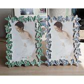 6寸7寸10寸金屬相框 邊框蝴蝶婚紗照相架 結婚禮品 家居擺台   LannaS
