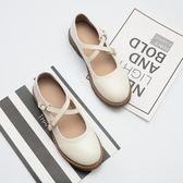 日系娃娃鞋瑪麗珍鞋平底圓頭小皮鞋復古