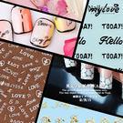 英文字貼紙(背膠) DTL/HBJY美甲背膠貼紙 超薄貼紙 蕾絲 蝴蝶 愛心 英文字母
