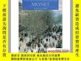 二手書博民逛書店Monet罕見(Discovering Art) 莫奈畫冊Y24