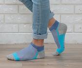 (男襪) 專業抗菌襪 抗菌除臭襪 吸濕排汗除臭襪  抗菌氣墊短襪-三線藍【M20003-06】Nacaco