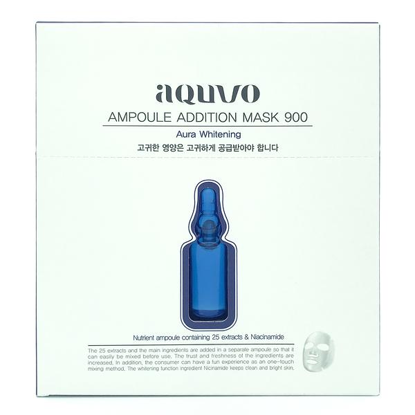 韓國 aquvo 安瓶面膜 逆黑萃白 (5片/盒)【優.日常】