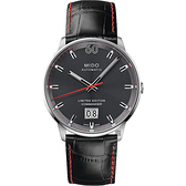 全球限量1959只 MIDO 美度 Commander 香榭60週年大視窗機械錶-黑/42mm M0216261608100