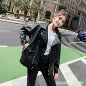 皮衣外套 小個子皮衣女短款外套學生新款春秋韓版寬鬆百搭機車bf皮夾克 城市科技