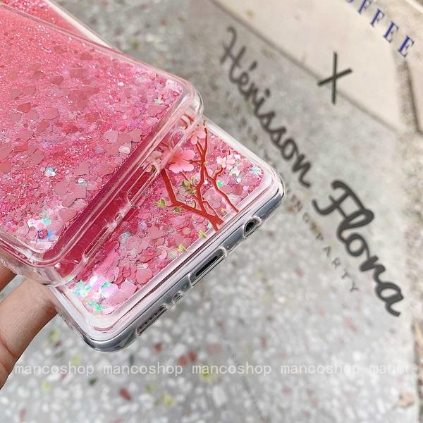 三生三世桃花流沙 三星 A51 A71 4G A31 A21s 邊框軟殼 透明殼 液態流沙殼 全包邊保護套 手機殼 閃粉