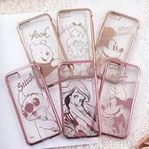 【DD  】迪士尼TPU iPhone 7 電鍍彩繪保護套人物系列iPhone 7 plu