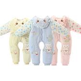 嬰兒連身裝 加厚嬰兒連體衣開?哈衣保暖新生兒棉襖寶寶爬服棉衣服 中元節禮物