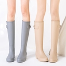 女式雨鞋女時尚款外穿高筒水靴女士水鞋長筒雨靴加絨加厚防水防滑 設計師生活百貨