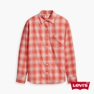 Levis 女款 格紋襯衫 / 復古學院風 / 簡約單口袋