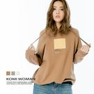 【KOMI】連帽運動風法國絨棉印圖上衣‧...