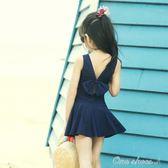 溫泉兒童泳衣女童連體泳裝小中大童可愛韓學生游泳衣中秋節促銷
