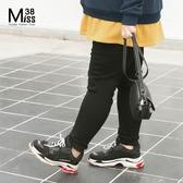 Miss38-(現貨)【A10258】大尺碼內刷毛長褲 黑色加絨加厚 保暖小腳褲 打底內搭褲-中大尺碼女裝