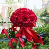 定制            手捧花 仿真 婚禮新娘結婚創意手工紅色中式韓式花束影樓拍攝道具 春生雜貨