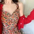 碎花洋裝女夏天2020年新款溫柔風雪紡吊帶裙子顯瘦顯高氣質長裙 蘿莉新品
