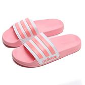 ADIDAS 拖鞋 ADILETTE SHOWER 粉 紅 白 運動拖 女 (布魯克林) EG1886