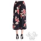 中老年寬褲女夏季薄款高腰寬鬆緊腰媽媽裙褲大尺碼女褲夏大尺碼