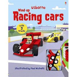 【麥克書店】WIND-UP RACING CARS  /精美軌道書(內附兩台小車)