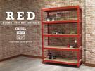 組合架 鐵架 檔案架 展示架 寶石紅角鋼 紅色免螺絲角鋼 (4x1.5x6_5層)空間特工R4015650