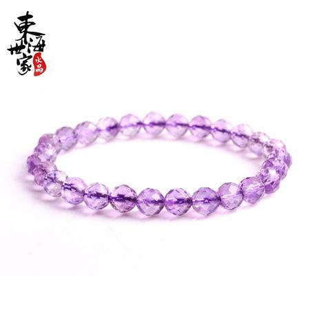 刻面紫水晶手鏈