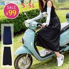 BOBO小中大尺碼【10631】防風防曬防走光綁帶遮陽一片裙-共2色-S-5L