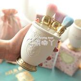 筆筒化妝刷收納筒桌面化妝韓國公主風辦公家用多功能樹脂材質 俏腳丫