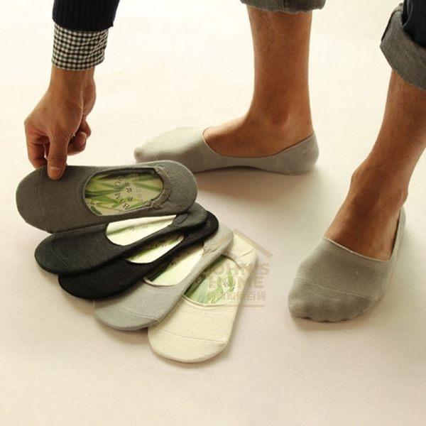 純色男士竹纖維隱形襪 男襪 船型鞋淺口素色船襪 矽膠防掉跟設計 3色【VA010】《約翰家庭百貨