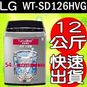 《再打X折可議價》LG樂金【WT-SD126HVG】12kg蒸善美直驅變頻洗衣機