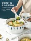 雙耳湯碗大號家用不燙手陶瓷泡面碗單個盛湯盆日式帶把餐具ins風 果果輕時尚