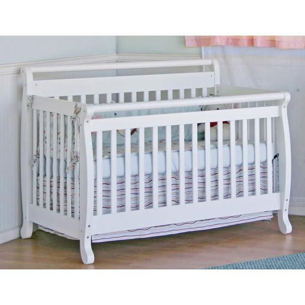 喬依思 La joie Rockland 艾蜜莉四合一成長床(附床墊+護欄)-(白色)