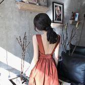 沙灘裙女夏泰國吊帶海邊度假露背裙子長裙顯瘦洋裝收腰