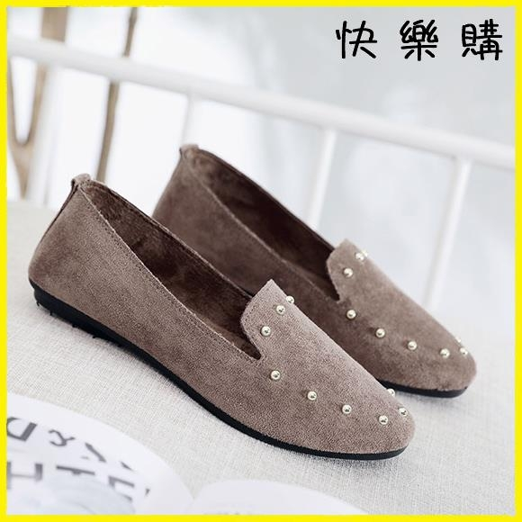 【快樂購】布鞋 布鞋平底軟底豆豆鞋單鞋時尚工作鞋