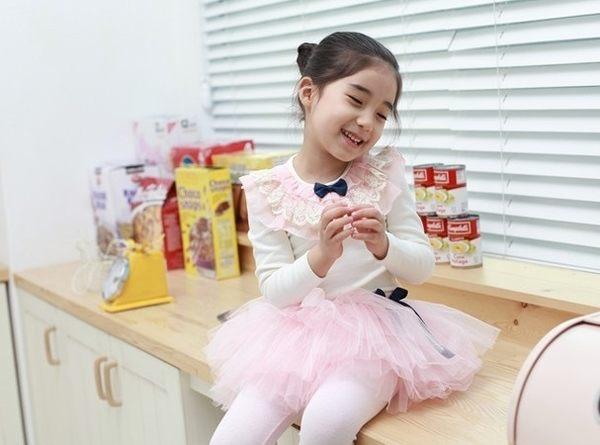 韓版《甜美蕾絲領》百搭長袖上衣