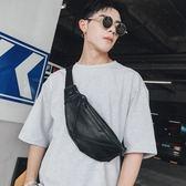 潮男皮質小包胸包 休閒運動便攜帶男士小腰包單肩後背包韓版男包 【PINKQ】