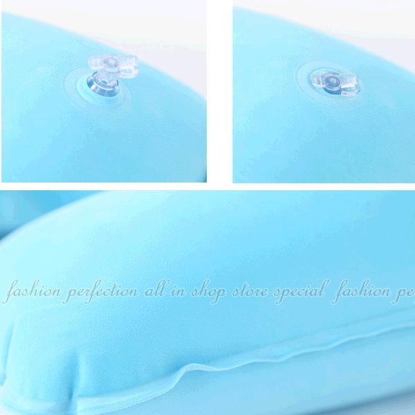 【DN438】充氣U型枕 午睡枕 車枕 充氣枕 枕頭 護頸護脖枕★EZGO商城★