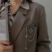 胸針暗黑流蘇jk配飾西裝西服復古別針衣服裝飾高檔2021年新款潮女【母親節禮物】