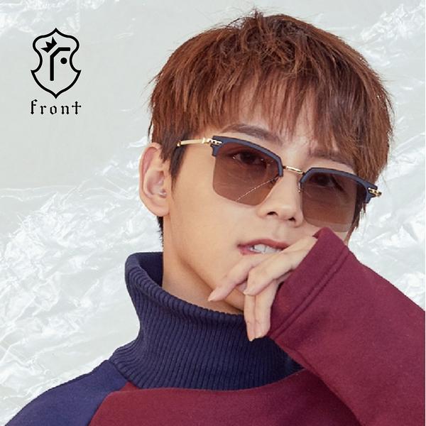 【Front 太陽眼鏡】Really Really-四色可挑選#歐美時尚金屬方框太陽眼鏡/墨鏡