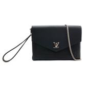 【台中米蘭站】全新品 Louis Vuitton MYLOCKME POCHETTE 全皮手拿斜背包(M63926-黑)