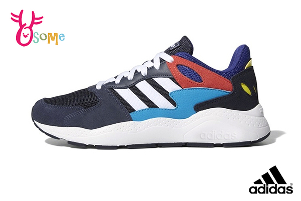 adidas CHAOS 成人男款 易烊千璽同款 流行穿搭 復古老爹鞋 慢跑鞋 運動鞋 Q9387#藍色◆OSOME奧森鞋業
