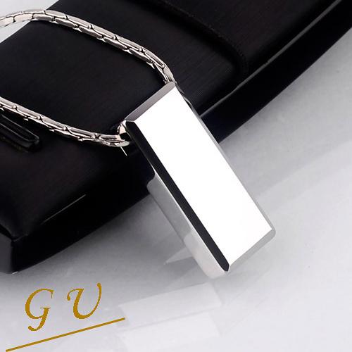 【GU】W41 男友 生日禮物鎢鋼項鍊鈦鋼項鍊 GresUnic Agloce方形烏玄項鍊